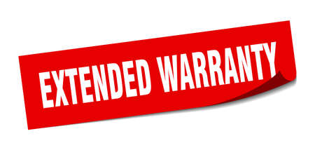 extended warranty sticker. extended warranty square isolated sign. extended warranty Illustration