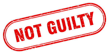 not guilty stamp. not guilty square grunge sign. not guilty
