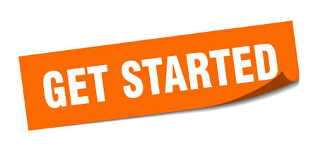 get started sticker. get started square isolated sign. get started