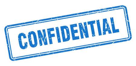 confidential stamp. confidential square grunge sign. confidential 矢量图像