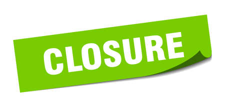 closure sticker. closure square isolated sign. closure