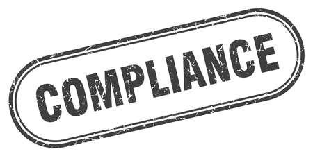 compliance stamp. compliance square grunge sign. compliance Illusztráció