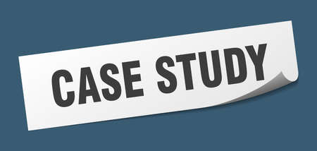 case study sticker. case study square isolated sign. case study
