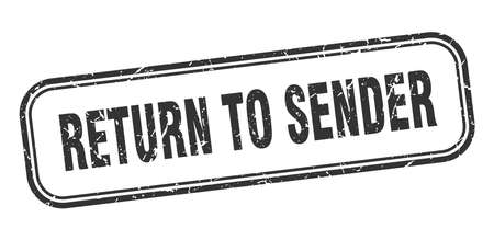 return to sender stamp. return to sender square grunge sign. return to sender Stockfoto - 126590565