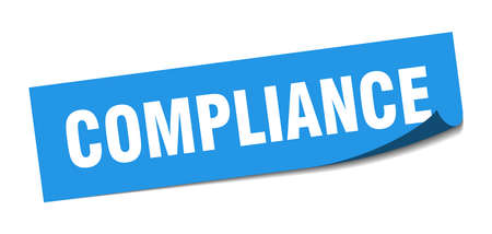 compliance sticker. compliance square isolated sign. compliance Vettoriali