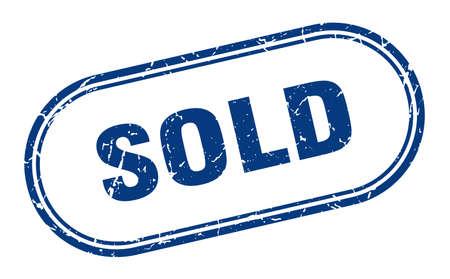 sold stamp. sold square grunge sign. sold Illustration