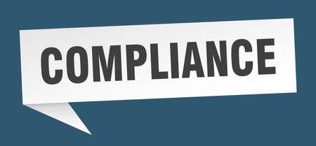 compliance speech bubble. compliance sign. compliance banner