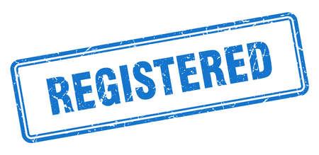 registered stamp. registered square grunge sign. registered Illustration