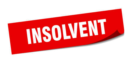 insolvent sticker. insolvent square isolated sign. insolvent Иллюстрация