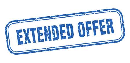 extended offer stamp. extended offer square grunge sign. extended offer Ilustração