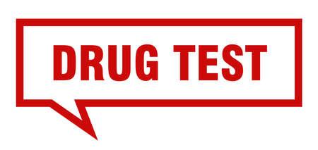 drug test sign. drug test square speech bubble. drug test Illustration
