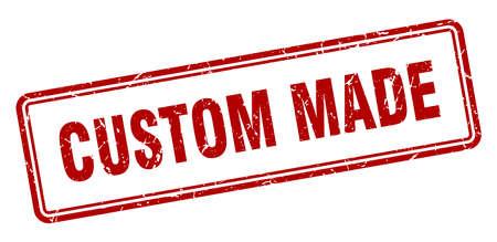 custom made stamp. custom made square grunge sign. custom made 向量圖像