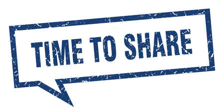time to share sign. time to share square speech bubble. time to share Illustration
