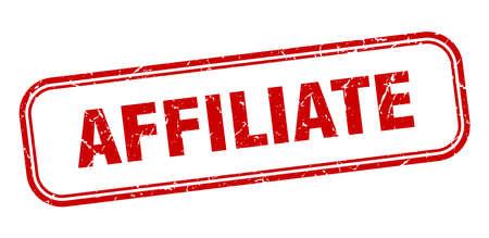 affiliate stamp. affiliate square grunge sign. affiliate