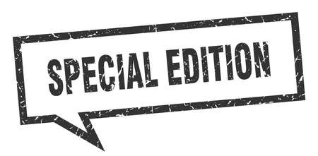 special edition sign. special edition square speech bubble. special edition