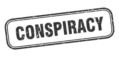 conspiracy stamp. conspiracy square grunge sign. conspiracy Ilustración de vector