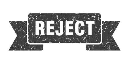 reject grunge ribbon. reject sign. reject banner
