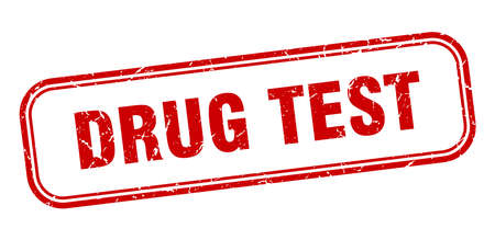 drug test stamp. drug test square grunge sign. drug test