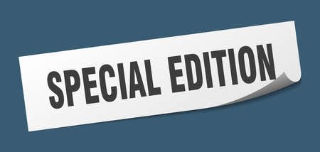special edition sticker. special edition square isolated sign. special edition
