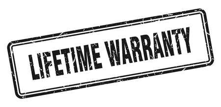 lifetime warranty stamp. lifetime warranty square grunge sign. lifetime warranty