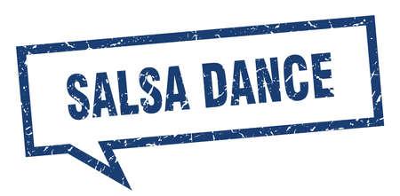 salsa dance sign. salsa dance square speech bubble. salsa dance Illustration