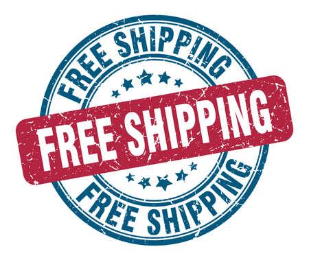 free shipping stamp. free shipping round grunge sign. free shipping