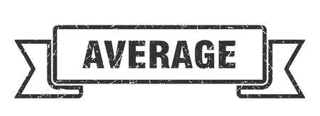 average grunge ribbon. average sign. average banner Çizim