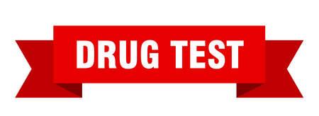drug test ribbon. drug test isolated sign. drug test banner