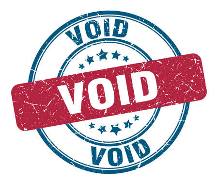 void stamp. void round grunge sign. void