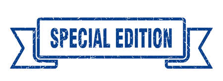 special edition grunge ribbon. special edition sign. special edition banner