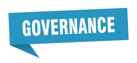 governance speech bubble. governance sign. governance banner Çizim