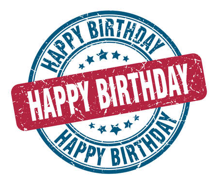 pieczęć z okazji urodzin. wszystkiego najlepszego okrągły znak grunge. wszystkiego najlepszego z okazji urodzin