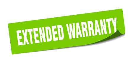 extended warranty sticker. extended warranty square isolated sign. extended warranty Ilustração