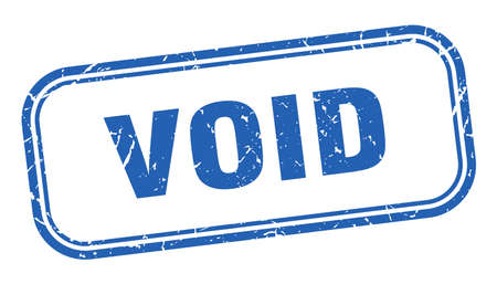 timbre nul. signe grunge carré vide. annuler Vecteurs