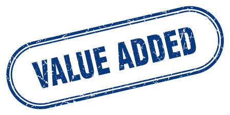 value added stamp. value added square grunge sign. value added