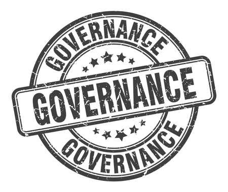 governance stamp. governance round grunge sign. governance