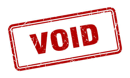 void stamp. void square grunge sign. void Ilustrace