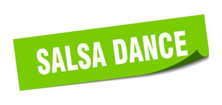 salsa dance sticker. salsa dance square isolated sign. salsa dance