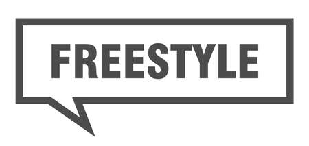 freestyle sign. freestyle square speech bubble. freestyle 向量圖像