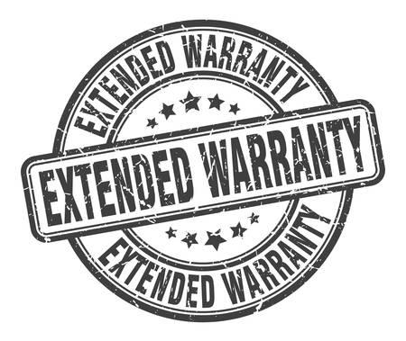 extended warranty stamp. extended warranty round grunge sign. extended warranty Ilustração