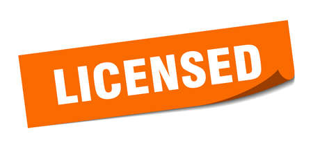 licensed sticker. licensed square isolated sign. licensed