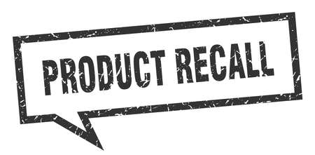 product recall sign. product recall square speech bubble. product recall Çizim