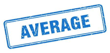 average stamp. average square grunge sign. average Illustration