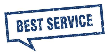 best service sign. best service square speech bubble. best service Illustration