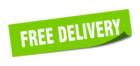 free delivery sticker. free delivery square isolated sign. free delivery