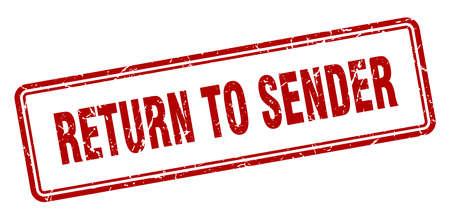 return to sender stamp. return to sender square grunge sign. return to sender Stockfoto - 126804621