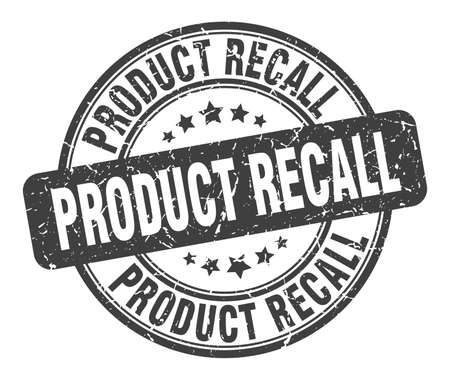 product recall stamp. product recall round grunge sign. product recall Çizim