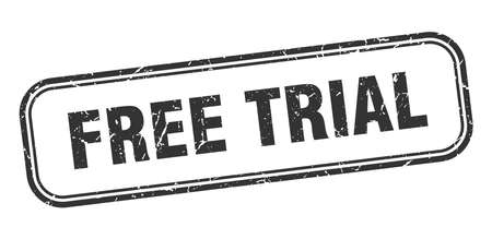 free trial stamp. free trial square grunge sign. free trial