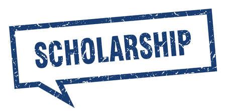 scholarship sign. scholarship square speech bubble. scholarship
