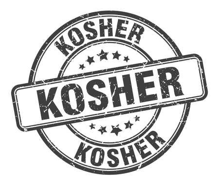kosher stamp. kosher round grunge sign. kosher